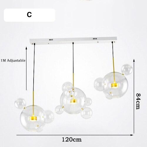 Modern Nordic Bubble Chandelier