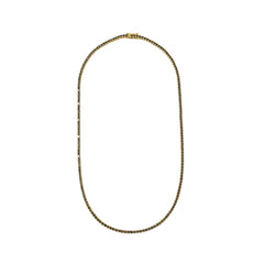 14K Gold Black Diamond Tennis Necklace