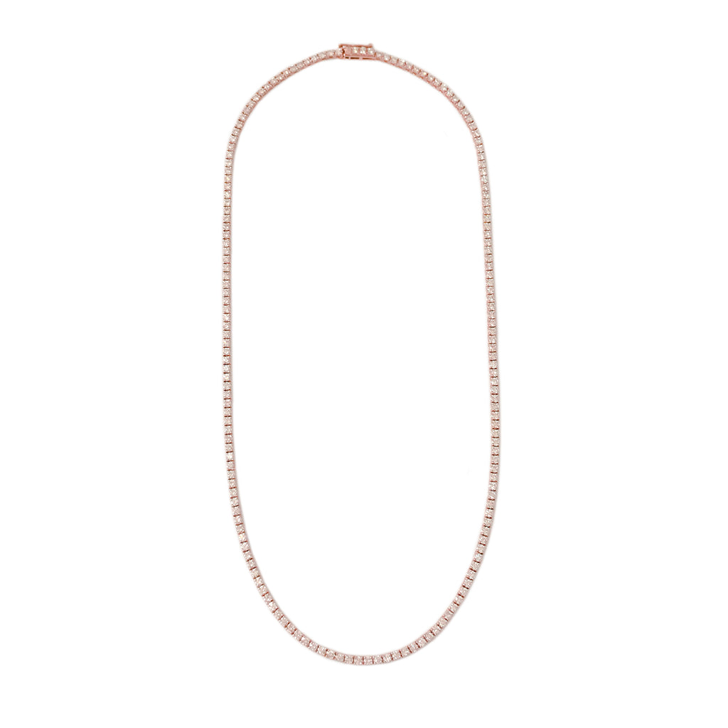 14K Gold Diamond Tennis Necklace