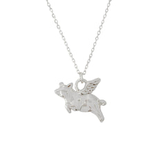14K Gold Flying Pig Necklace ~ In Stock!