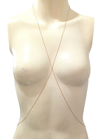 14K Gold Minimalist Body Chain