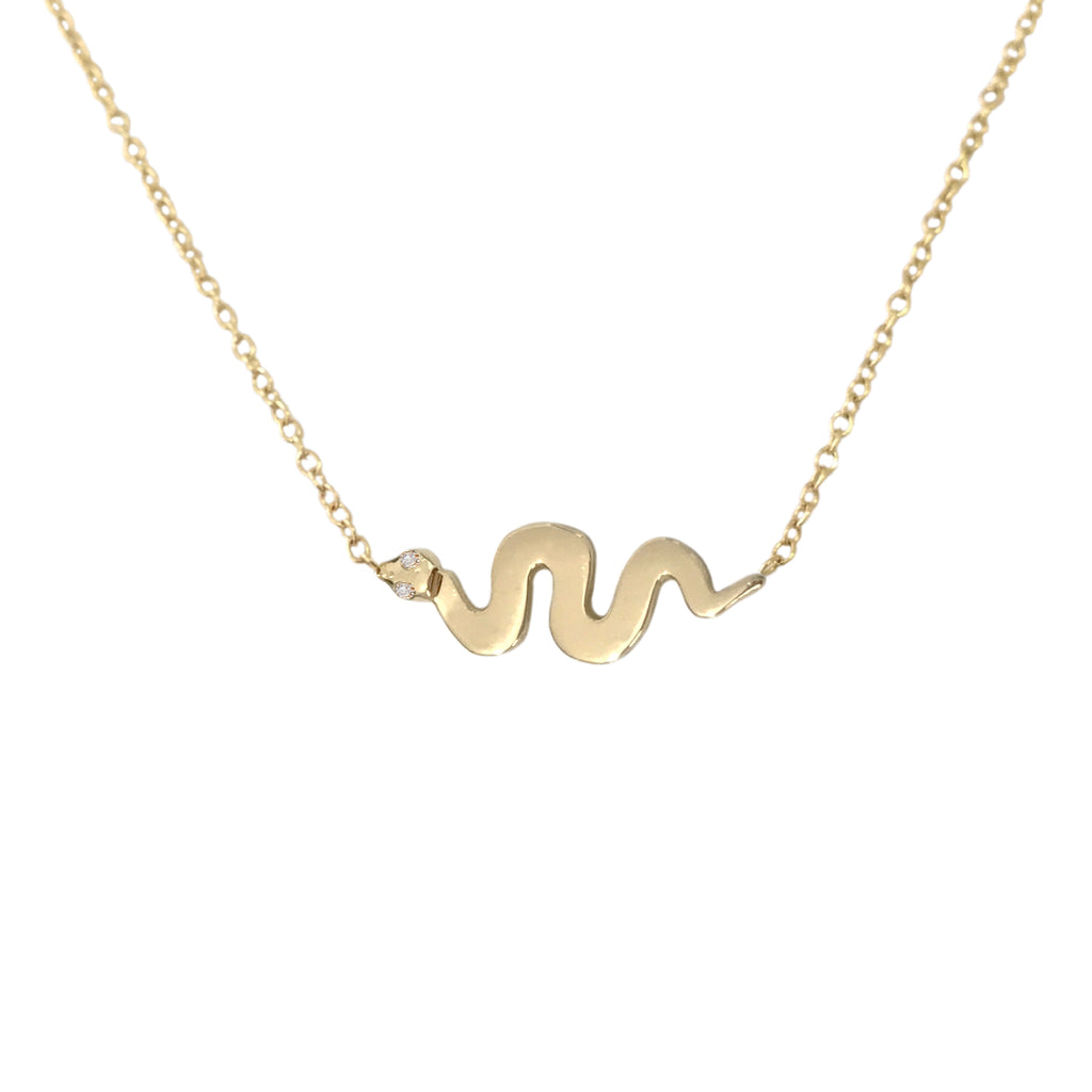 14K Gold Swivel Snake Necklace