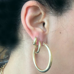 14K Gold Thick Small Size Huggie Hoop Earrings ~ In Stock!