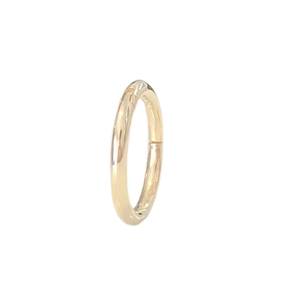 14K Gold Endless Clicker Thin Round Charm Enhancer, 4 Size Options ~ In Stock!