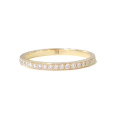 14K Gold Pavé Diamond Full Eternity Band, Comfort Fit