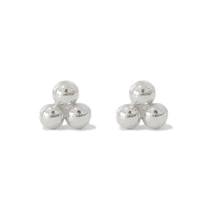14K Gold Trinity Ball Cluster Stud Earrings ~ In Stock!
