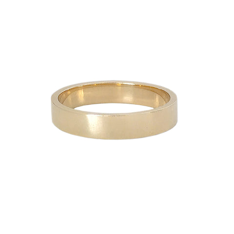 14K Gold 3mm Flat Eternity Band (Engravable)