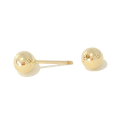 Barbell Collection: 5mm x 5mm 14K Gold Solid Barbell Stud Earrings