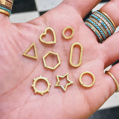 14K Gold Star Charm Enhancer ~ In Stock!