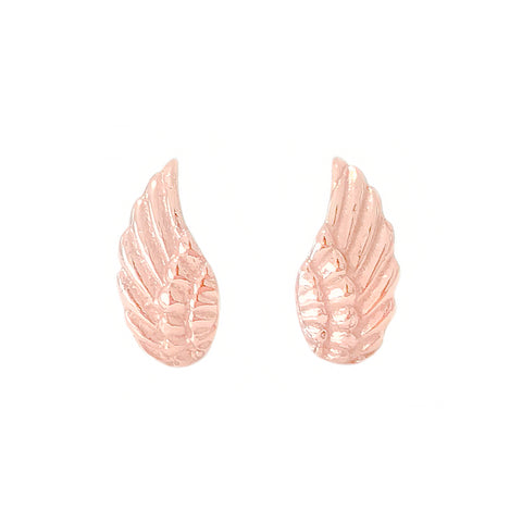 14K Gold Angel Wings Stud Earrings ~ In Stock!