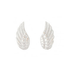 14K Gold Angel Wings Stud Earrings
