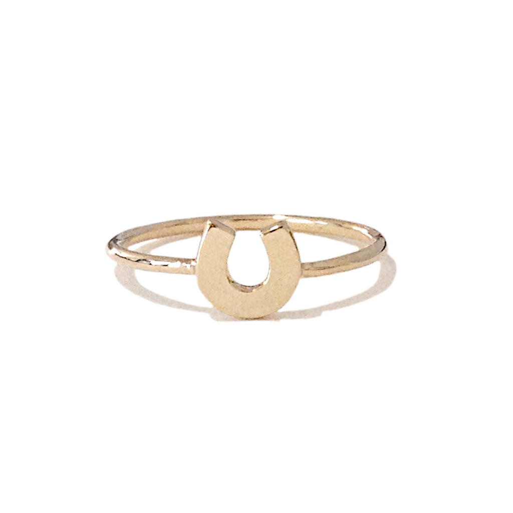14K Gold XS Horseshoe Ring