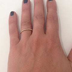 14K Gold Beaded Ball Band Eternity Ring