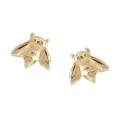 14K Gold Bumblebee Stud Earrings