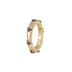 14K Gold Black Diamond Round Charm Enhancer