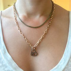 14K Gold Thick Oval Link Necklace ~ Small Size Links, In Stock!