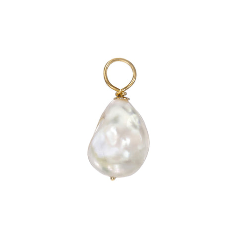 14K Gold Baroque Freshwater Cultured Pearl Pendant