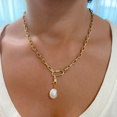14K Gold Baroque Freshwater Cultured Pearl Pendant ~ In Stock!