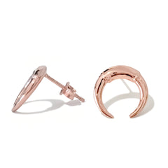 14K Gold Double Horn Stud Earrings ~ In Stock!