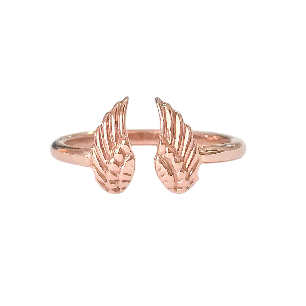 14K Gold Double Wing Ring
