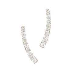 14K Gold Diamond Climber Arch Earrings