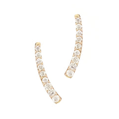 14K Gold & Diamond Climber Arch Earrings