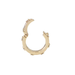 14K Gold Diamond Round Charm Enhancer