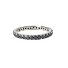 14K Gold Pavé Black Diamond Full Eternity Band