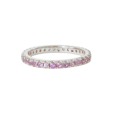 14K Gold & Pavé Purple Sapphire Full Eternity Band