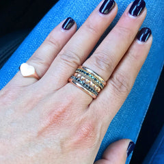 14K Gold & Pavé Black Diamond Full Eternity Band
