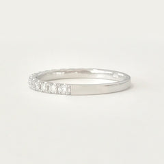 14K Gold & Pavé Diamond Half Eternity Band