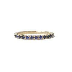 14K Gold & Pavé Sapphire Gemstone Half Eternity Band