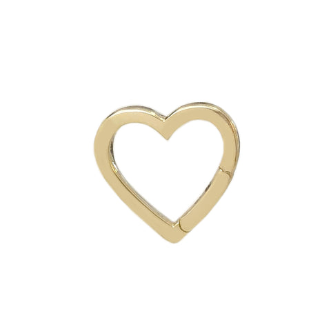 14K Gold Heart Charm Enhancer ~ In Stock!