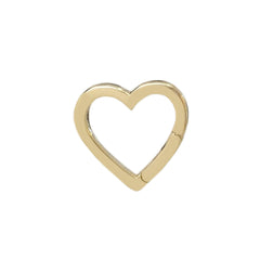 14K Gold Heart Charm Enhancer