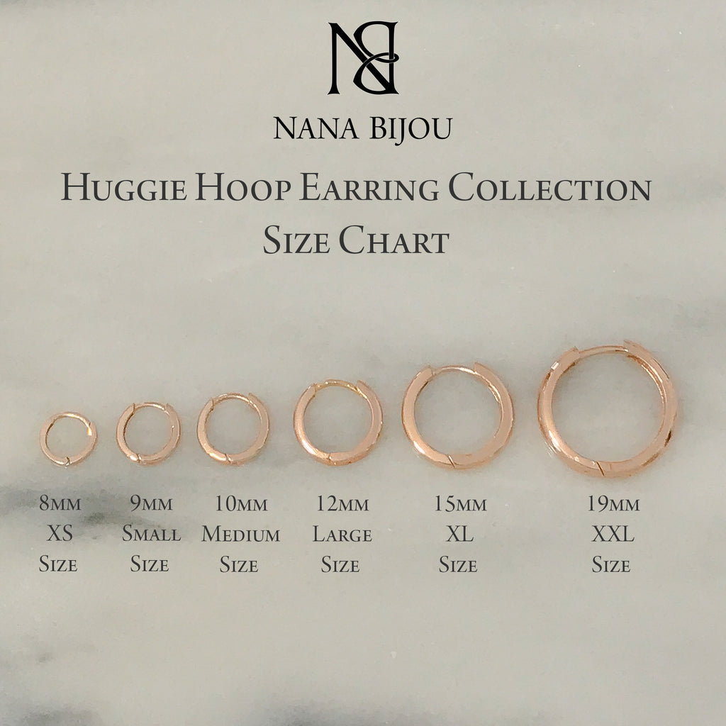 14k gold pav diamond xl size 15mm huggie hoop earrings nana bijou