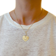 "14K Gold Pavé Diamond ""I Love SF"" Charm Necklace ~ In Stock!"
