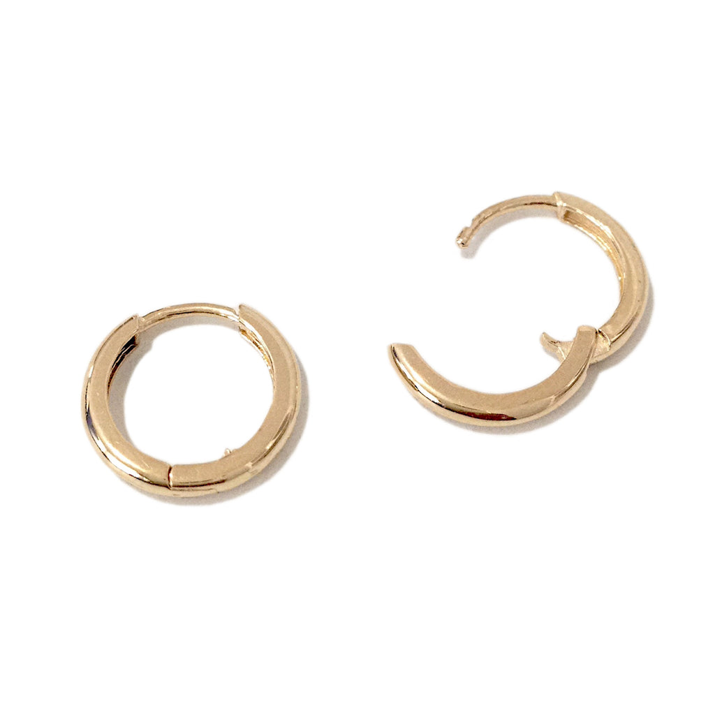 Fine Jewelry 14K Gold 10mm Hoop Earrings Esp03Fb