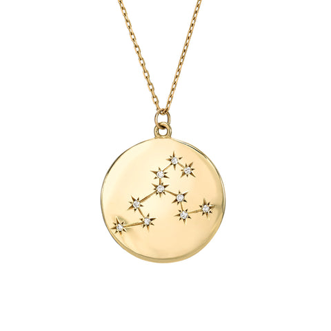 Zodiac Constellation Collection: Leo 14K Gold & Diamond Pendant Necklace