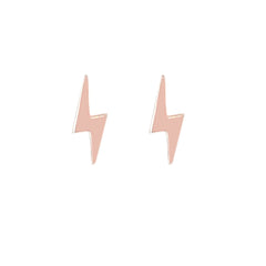 14K Gold XS Lightning Bolt Stud Earrings