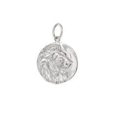 14K Gold Lion Medallion Charm Pendant ~ In Stock!