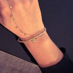 14K Gold Diamond Lip Pout Bracelet