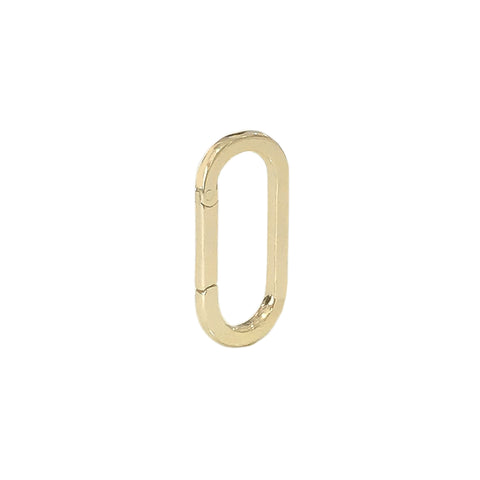 14K Gold Elongated Oval Charm Enhancer ~ Small Size, In Stock!