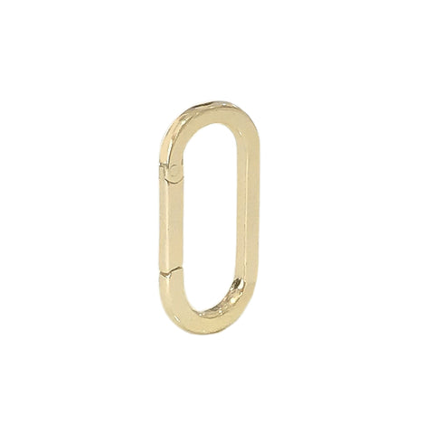 14K Gold Elongated Oval Charm Enhancer, Large Size ~ In Stock!