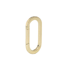 14K Gold Elongated Oval Charm Enhancer ~ Large Size, In Stock!