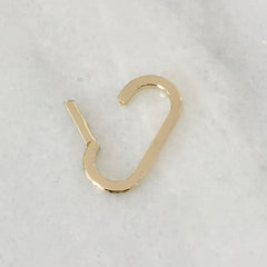 14K Gold Elongated Oval Charm Enhancer ~ Large Size