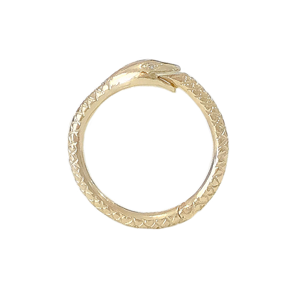 14K Gold Ouroboros Snake Charm Enhancer ~ Large Size