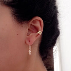 14K Gold Medium Size Safety Pin Earring ~ In Stock!