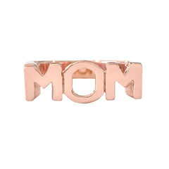 "14K Gold ""MOM"" Monogram Initial Ring"