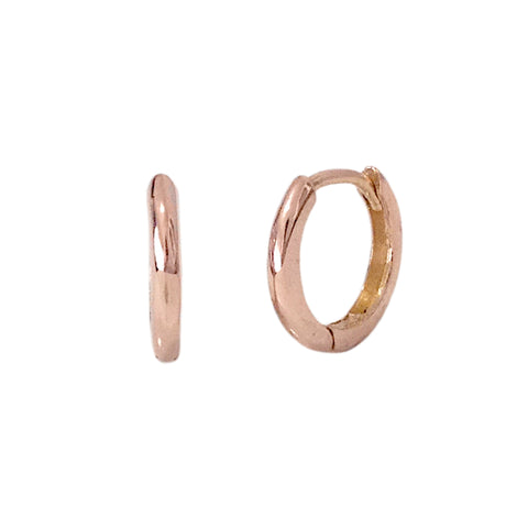 14K Gold Medium Size (10mm) Huggie Hoop Earrings