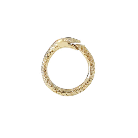 14K Gold Ouroboros Snake Charm Enhancer ~ Medium Size